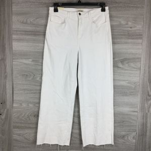 L'AGENCE White Danica Wide Leg Jeans